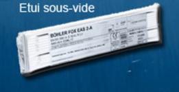 Electrodes Inox BOHLER 316 L sous vide