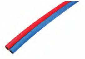 Tuyau jumellés oxygène/acétylène (bleu/rouge) CHARLEDAVE